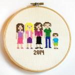 cross stitch family portrait-1