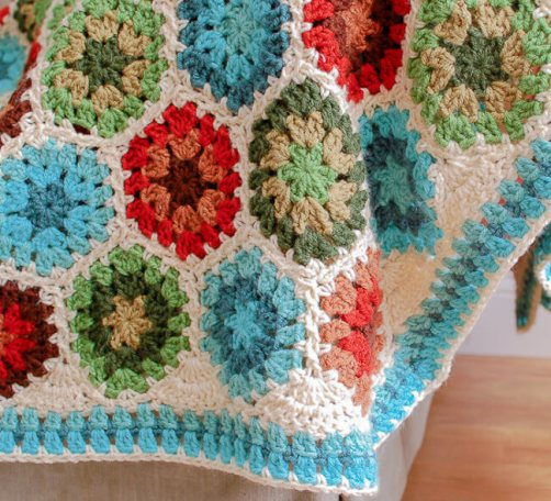 Crochet Hexagon Afghan Pattern And Tutorial Petals To Picots