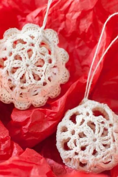 Lace Crochet Christmas Ornaments … Free Pattern
