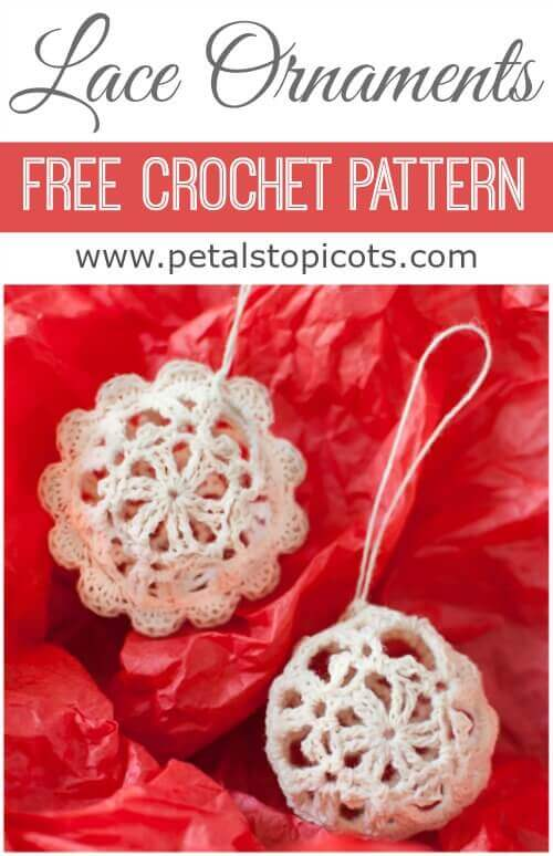 Crochet a set of these lovely lace ornaments ... great for gifting!