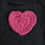 Crochet Heart Applique Pattern