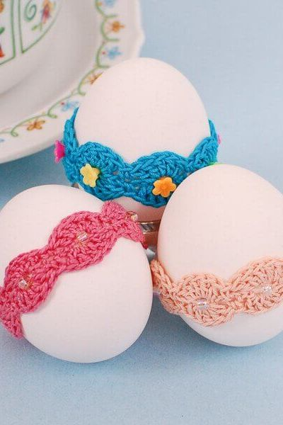 Crochet Easter Pattern … Lace Wrap Egg Decor