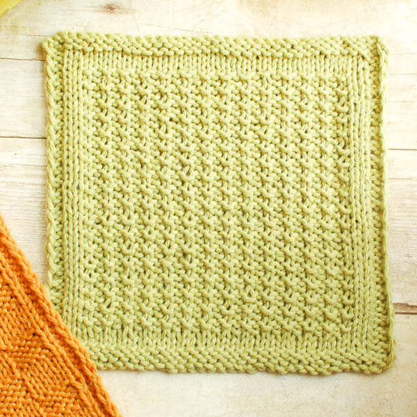 Textured Knit Dishcloth Pattern Petals To Picots