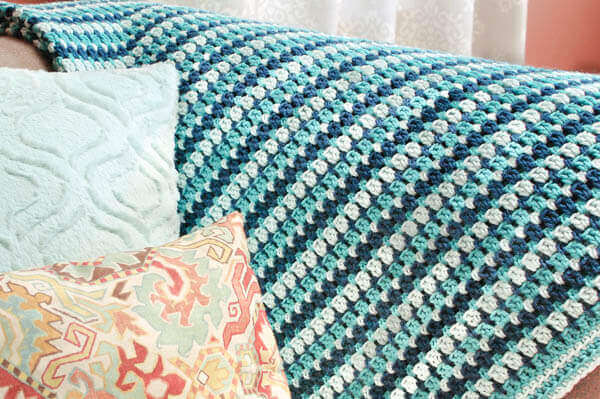 Sea Glass Crochet Afghan Pattern | www.petalstopicots.com