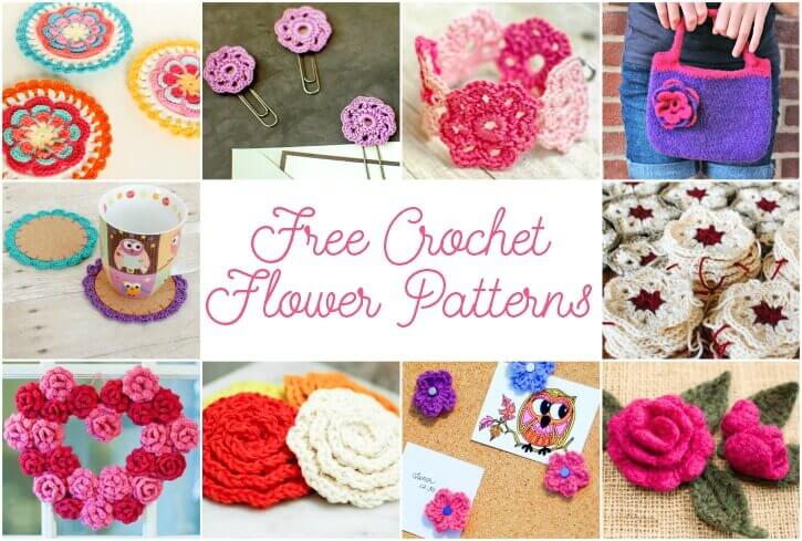May May Flowers ... Free Crochet Flower Patterns