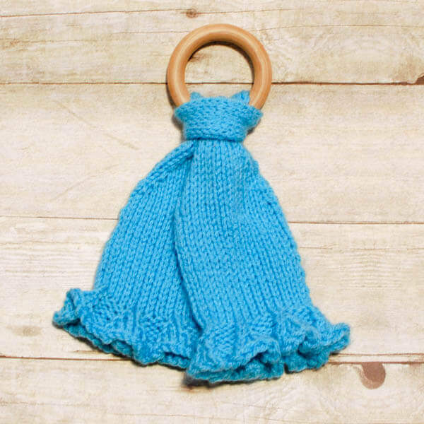 Teether Lovey Knit Pattern Petals To Picots