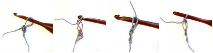 How to Crochet Solomon's Knot - Step 1 | www.petalstopicots.com