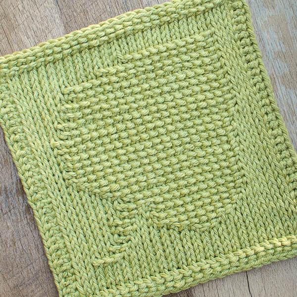 Leaf Tunisian Crochet Dishcloth Pattern | Petals to Picots