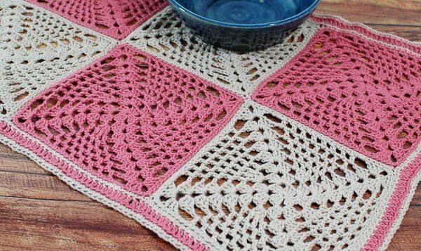 RetroChic Crochet Table Runner Pattern Petals To Picots Amazing Crochet Table Runner Patterns