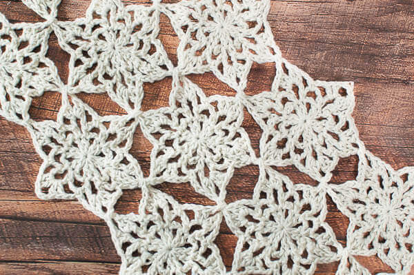 Snowflake Table Runner Crochet Pattern   Petals to Picots