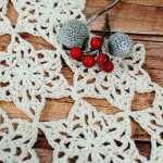 Snowflake Table Runner Crochet Pattern