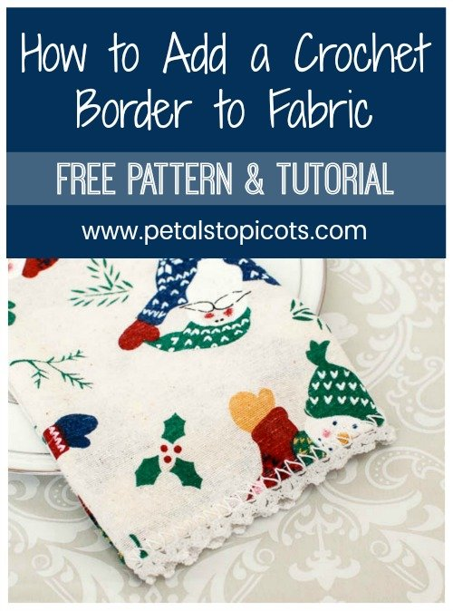 These Lace Trimmed Napkins are so quick and simple that you can easily stitch up a set for your own table or to give as gifts. Best of all, you can use the edging pattern on just about any fabric napkin set you like, no matter what the season!! #petalstopicots