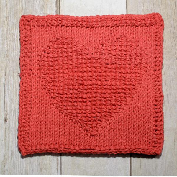 Heart Tunisian Crochet Dishcloth #crochet