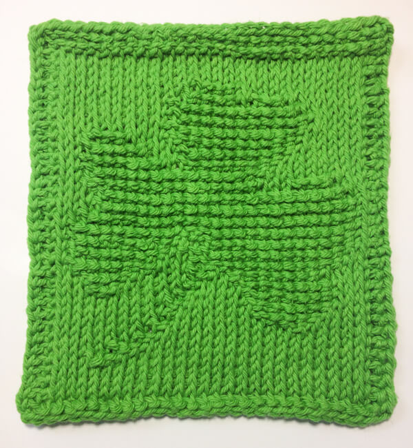 Tunisian Crochet Monthly Dishcloth Crochet Along .... March