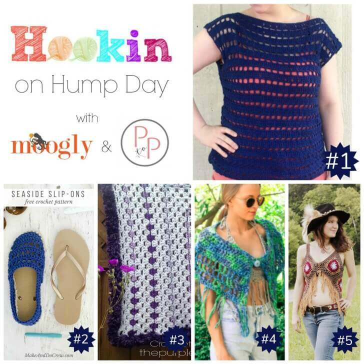 Hookin' on Hump Day #145: Link Party for the Fiber Arts | www.petalstopicots.com | #crochet #knit