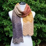 Autumn Ripple Crochet Scarf Pattern