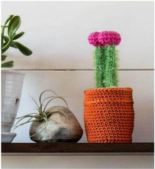 This Cactus Crochet Kit is great for beginners! It's fun to work up and makes a great addition to your decor ... and best of all there is no watering needed!