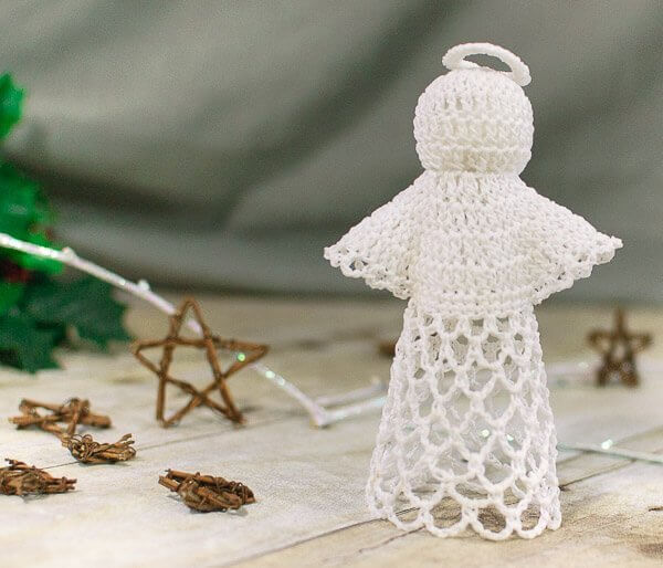 Lace Angel Crochet Pattern Petals To Picots