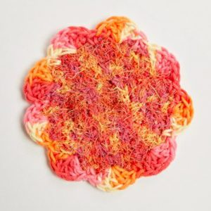 Spring Flower Crochet Scrubby Pattern - Red Heart Flower Power Scrubby
