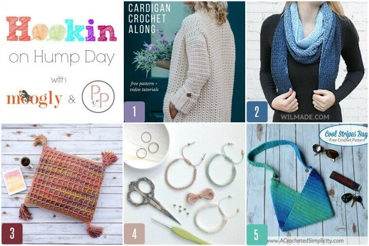 See whats trending in the fiber world! The latest Hookin' on Hump Day is live ... lots of great crochet and knit patterns! #petalstopicots