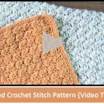 Textured Crochet Stitch Pattern {Video Tutorial}