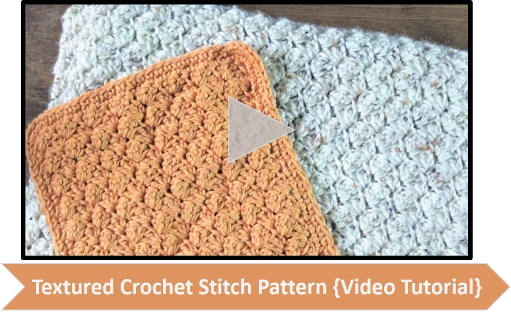 A video walk-through of one of my favorite stitches ... the textured crochet stitch pattern. It creates a beautifully rich fabric with only two basic stitches! #petalstopicots