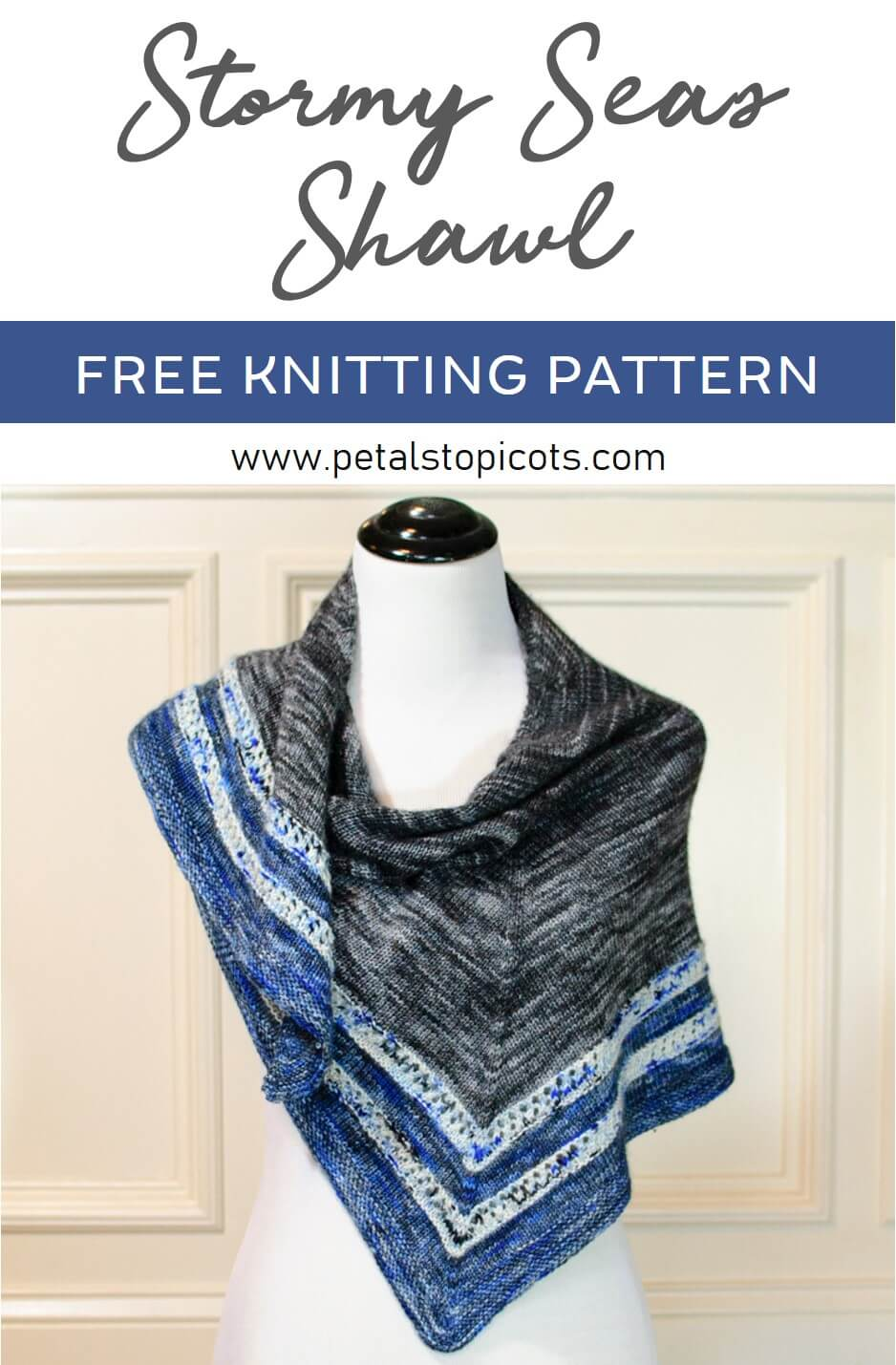 Stormy Seas Knit Shawl Pattern Petals To Picots Crochet Patterns With Diagrams Free The Is An Easy A Unique Design