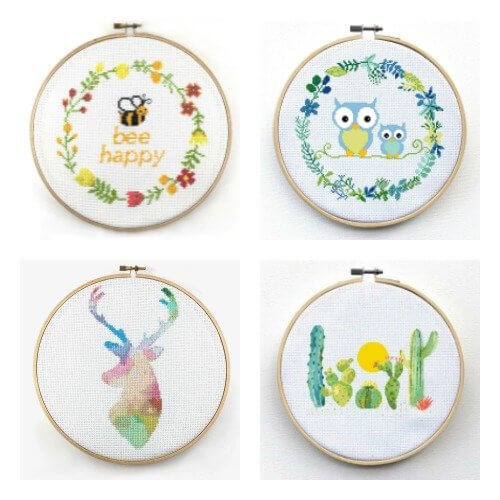 Cross Stitch Kit Giveaway | www.petalstopicots.com