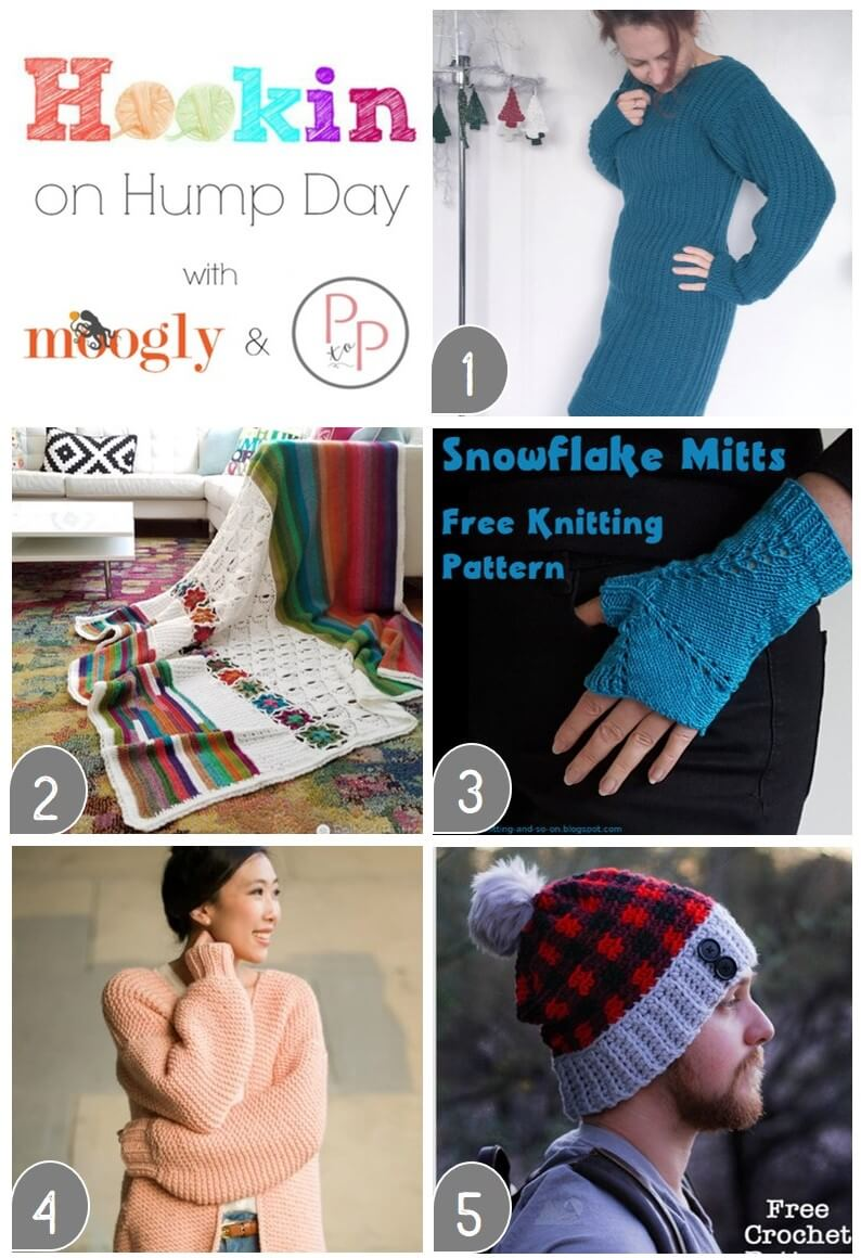 See what's trending in the fiber world at the latest Hookin' on Hump Day! Lots of great crochet and knitting features this week!!  #petalstopicots