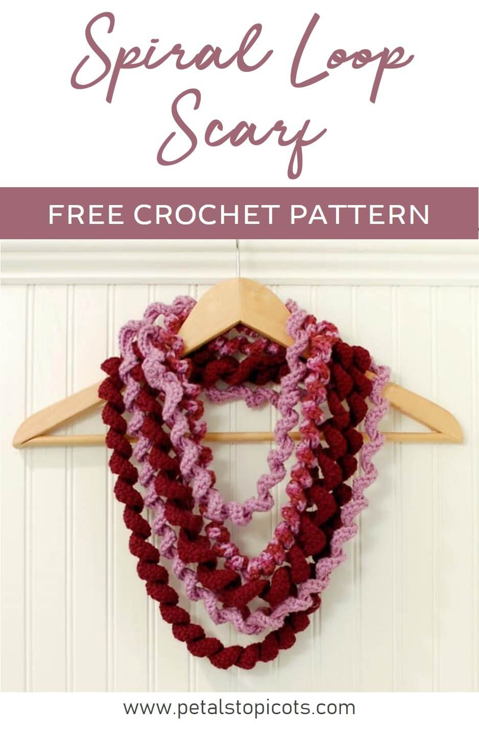 This Curlicue Spiral Scarf is so much fun to make ... and wear!! Make one to wear alone or wear them together for a stacked look.