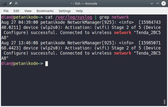 grep network