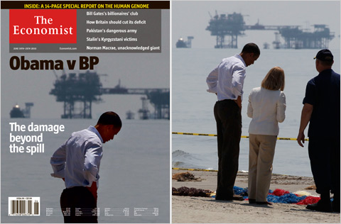 Economist modifies photo of Obama