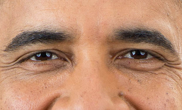 A Closer Look at Obamas New Official Presidential Portrait obamaeyes