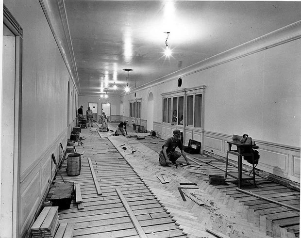 Photos of the White House Gutted During Its Truman Reconstruction KRlGjAq