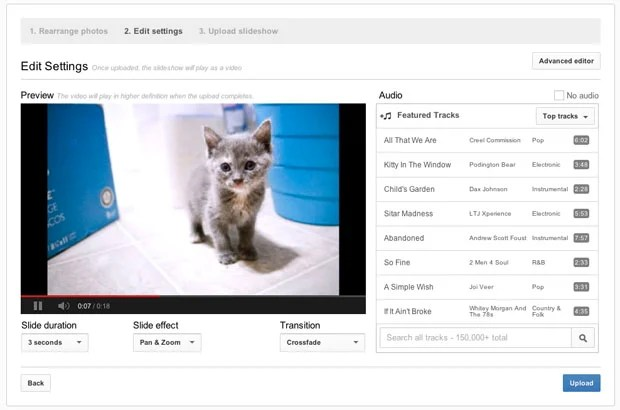 YouTube Can Turn Your Photographs into a Slideshow In Just Minutes youtubeslideshow4