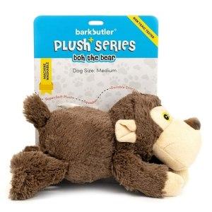 Bark Butler Soft Dog Toy – Plush Bear Squeaky Toy
