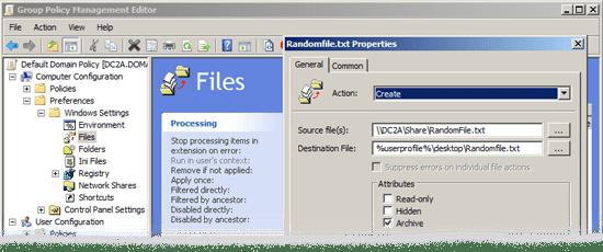 deploy files via gpo