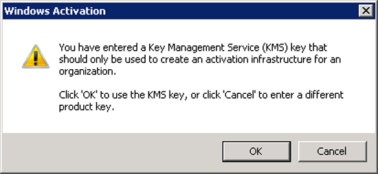 KMS Key Warning