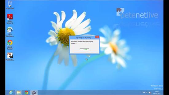 Run sysprep in Windows 8
