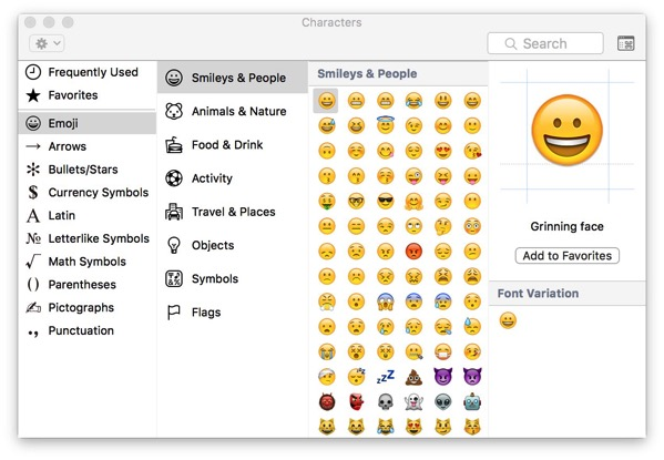 How To Quickly See The Emoji Keyboard On Os X Peter Cohen