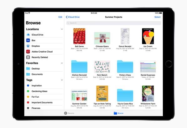 iOS 11 on an iPad