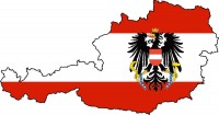 Austria Flag Map