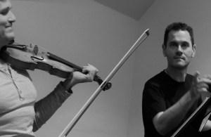 Rehearsing Mozart with the fantastic Daniel Ben Pienaar. December 2015