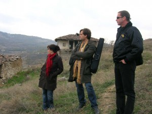 With Jana Andreevska and Nigel Clarke in the Hills outside Skopje. 2007