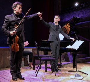 On stage with the Fabulous Daniel-Ben Pienaar. Celebrating Mozart at Wilton's Music Hall 14 2 16