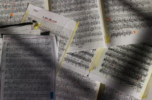 Some of the scores for the Tartini Cycle on my floor 10 4 16