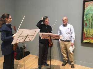 With composer Michael Alec Rose, and Violist Diana Mathews (and Auerbach's 'Summer Morning 1991')