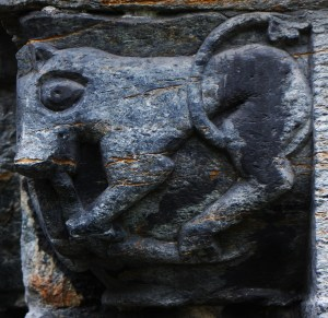 Soapstone Carving (12th Century) on the South Door of Mariakirken, Bergen