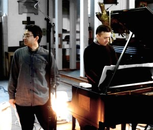Right now! Mihailo Trandafilovski and Roderick Chadwick, recording 'Ripple Effect', at St Michael's Highgate. Here's a little interview with the composer, and a performance on the 'Regent' Stradivarihttp://www.peter-sheppard-skaerved.com/2013/05/mihailo-trandafilovski-interview-and-performance/