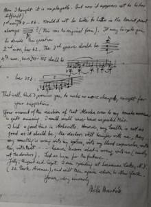 Bela Bartok to Yehudi Menuhin, 1944. Foyle/Menuhin Archive. RAM 27 10 15